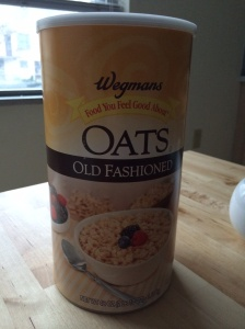 All hail the giant oatmeal canister.